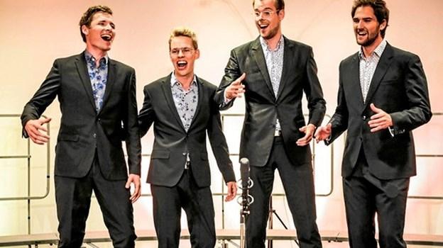Barbershopkvartetten HusAar står for underholdningen, når Skagens Museums Venner holder jubilæumsfest Foto: HusAar