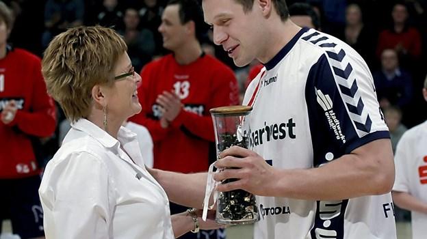 Michael V. Knudsen var formidabel på banen i sin tid som aktiv håndboldspiller. Arkivfoto Klaus Madsen