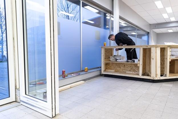 Her i den gamle Fakta midt i Brønderslev åbner der en Guld & Rod butik til januar. Foto: Laura Guldhammer
