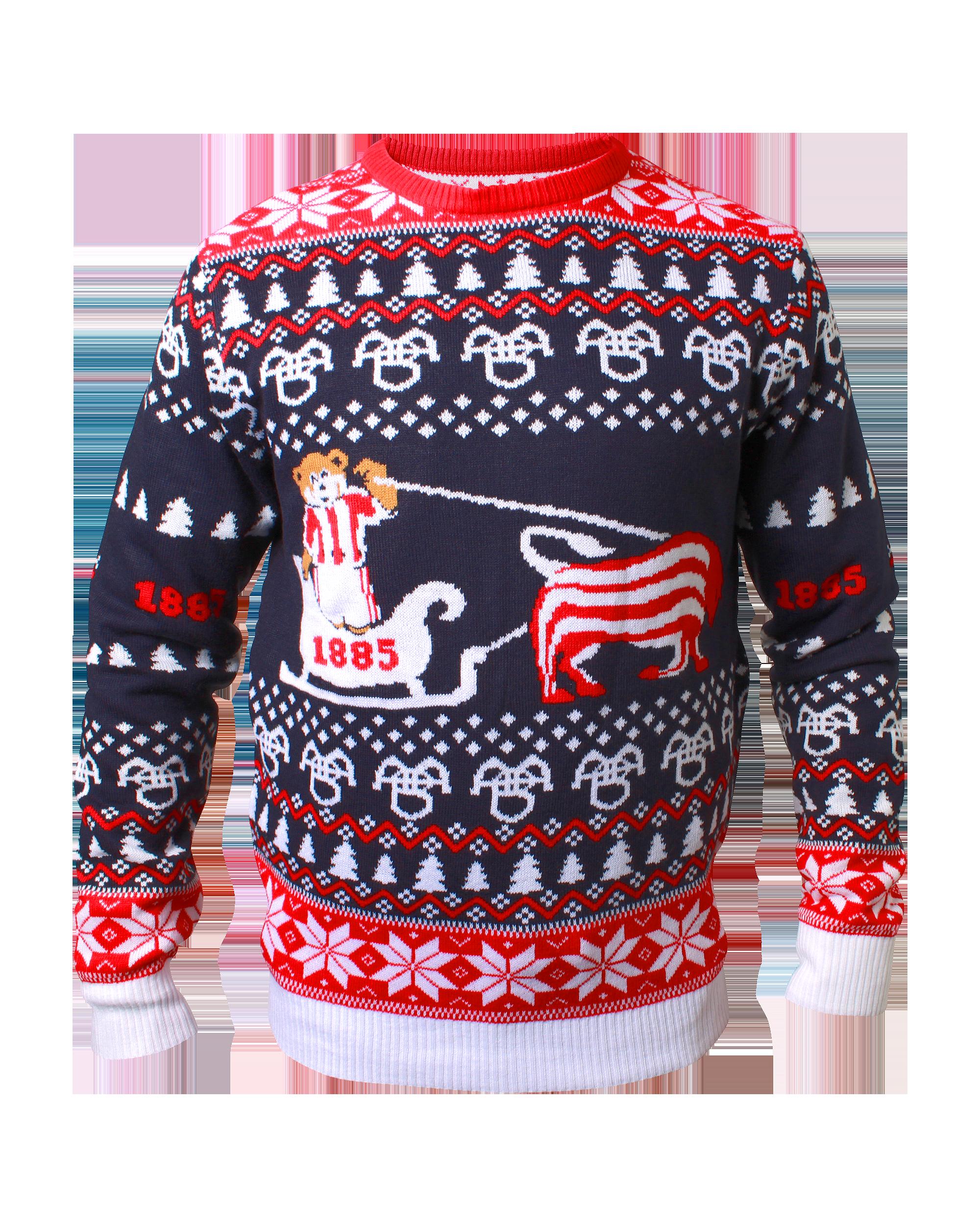 Sådan ser den populære AaB-julesweater ud. PR Foto