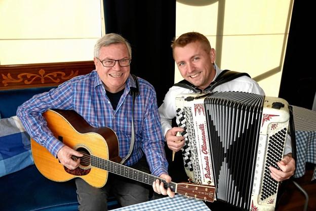 Peter Vesth og Kristian Rusbjerg giver 25. januar koncert i Kig Ind.     Pr-foto