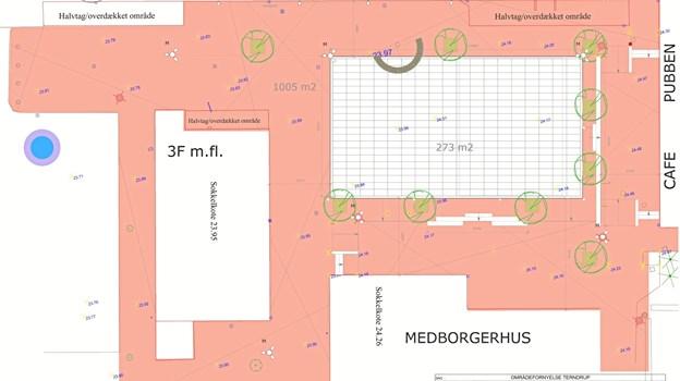 Sådan kommer centerpladsen i Terndrup til at se ud fremover.