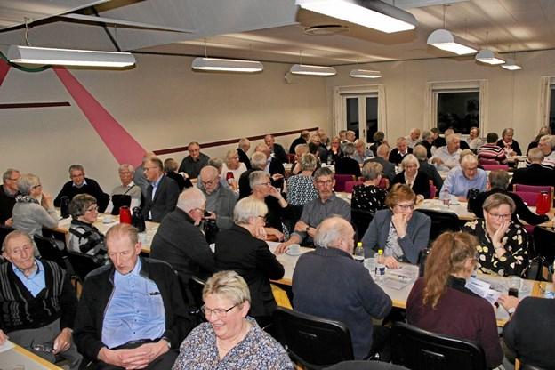 110 deltog i Sydthy-Thyholm Seniorers generalforsamling i uddannelsescentret i Hurup. Foto: Hans B. Henriksen