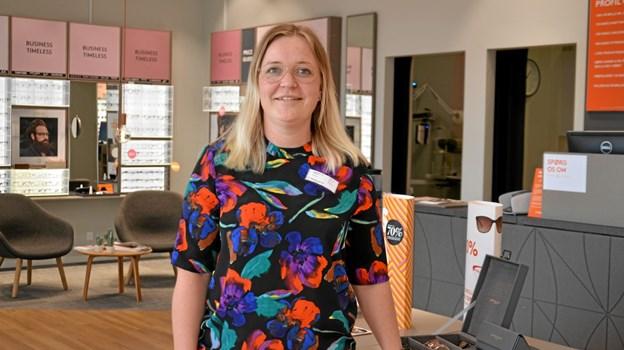 Christina Juul Sandvei, butikschef hos Profil Optik i Støvring. Foto: Jesper Bøss