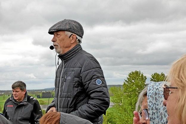 Jan Michno, Als, fortalte om dagene op til og selve befrielsen af Helberskov. Foto: Ejlif Rasmussen Ejlif Rasmussen