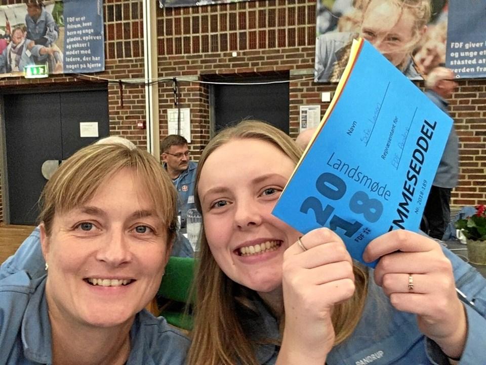 Anja Wulf Andersen og Sofie Larsen er den nye kredsledelse.Privatfoto