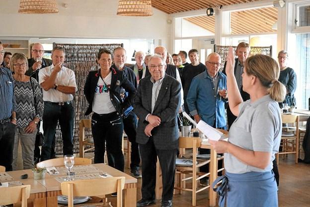 Restauratør Rikke Kristiansen var glad for at kunne fortælle anpartshaverne, at restauranten er kommet godt fra start.