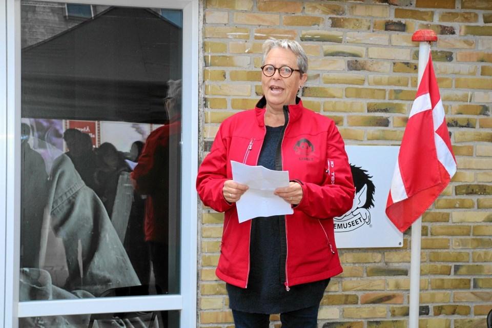 Lisbet Emmery holdt en meget flot tale ved indvielsen af den nye trolde museum. Foto: Flemming Dahl Jensen Flemming Dahl Jensen
