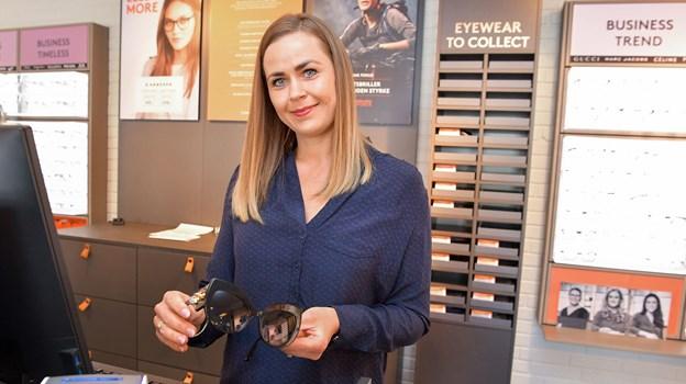 d1bc28633c13 32-årige Charlotte Vingaard glæder sig til at hjælpe kunderne hos Profil  Optik med at