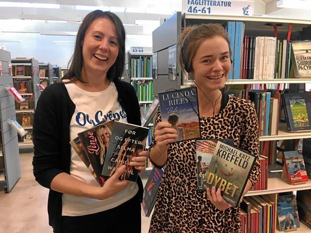 Bibliotekarerne Randi og Pernille. Privatfoto