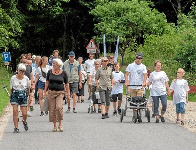 Juni: Danmarks største Parkinson Unity Walk, i Nordjylland kaldet Vendelbo Walk, blev afviklet i den nye Slotved Skov Dyrehave med mere end 600 deltagere. Foto: Niels Helver Niels Helver