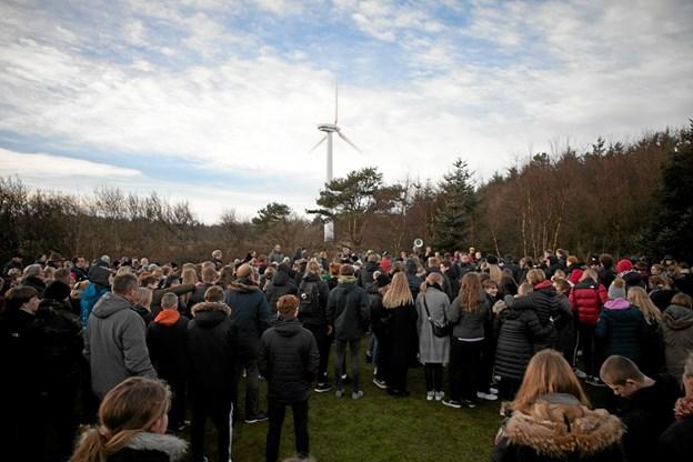 450 elever var med til, at indvie det nye MTB spor ved 'Skoven på Nejst'. Foto: Peter Jørgensen Peter Jørgensen