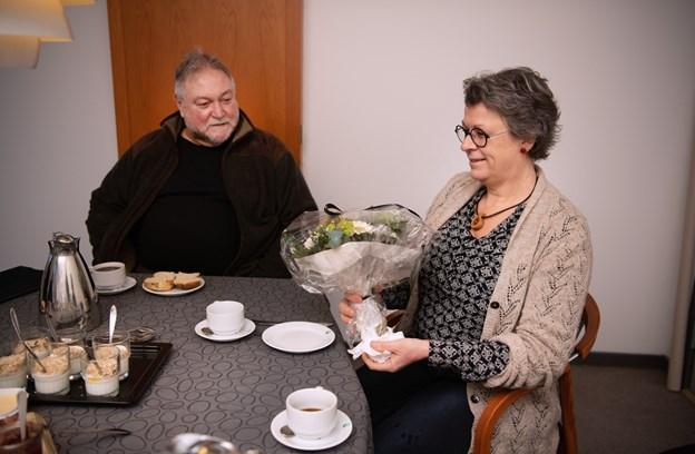 FGU leder, Karen Marie Schytter blev fredag budt velkommen af bestyrelsesformand, Eskild Sloth Andersen. Foto: Hans Ravn