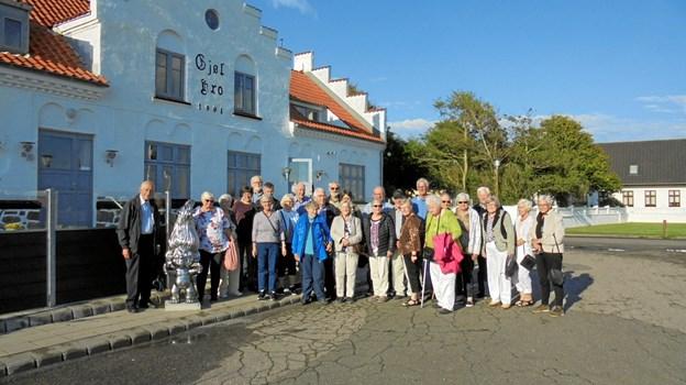 Den stegte flæsk blev nydt på Gjøl Kro.  Privatfoto