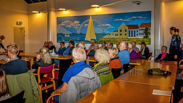 Alt optaget til Folkeuniversitetet i Vesthimmerlands foredrag torsdag aften. Foto: Mogens Lynge