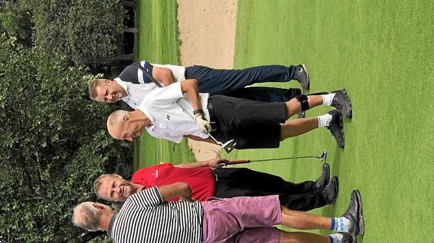 Erik og de tre spillere fra Rold Skov Golfklub havde en fantastisk dag. Foto: Rold Skov Golfklub