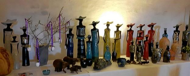 Lene Nürnberg har sit arbejdende værksted med kunsthåndværk i Retfærdigheden. Privatfoto.