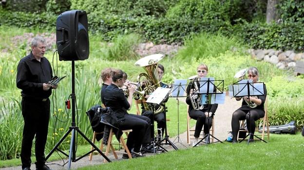 Nordjysk Brass Band akkompagnerede. Foto: Allan Mortensen Allan Mortensen