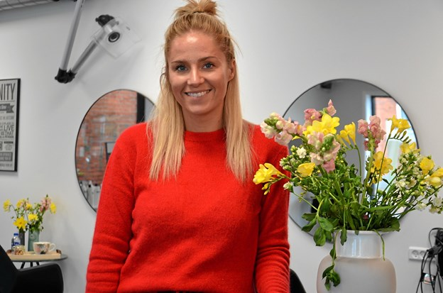 Bianca Sabrina Brandt Laustsen har åbnet Frisør Brandt i Arden. Foto: Jesper Bøss