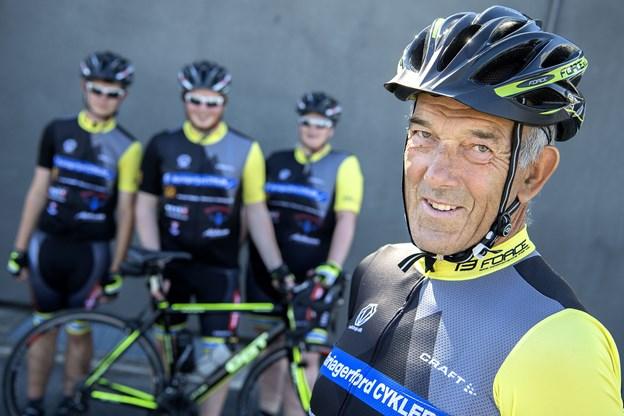 Bent Ringgaard, holdleder for Mariagerfjord Cykler, har til det treårige projekt skrabt 400.000 kroner sammen fortrinsvis fra private, men også fra Mariagerfjord Kommune.