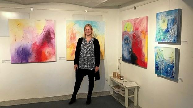 """Hanne Støvring vil selv være til stede ved åbningen af den nye særudstilling """"The Poetry of Life"""" i Galleri Himmerland i Gatten. Privatfoto"""