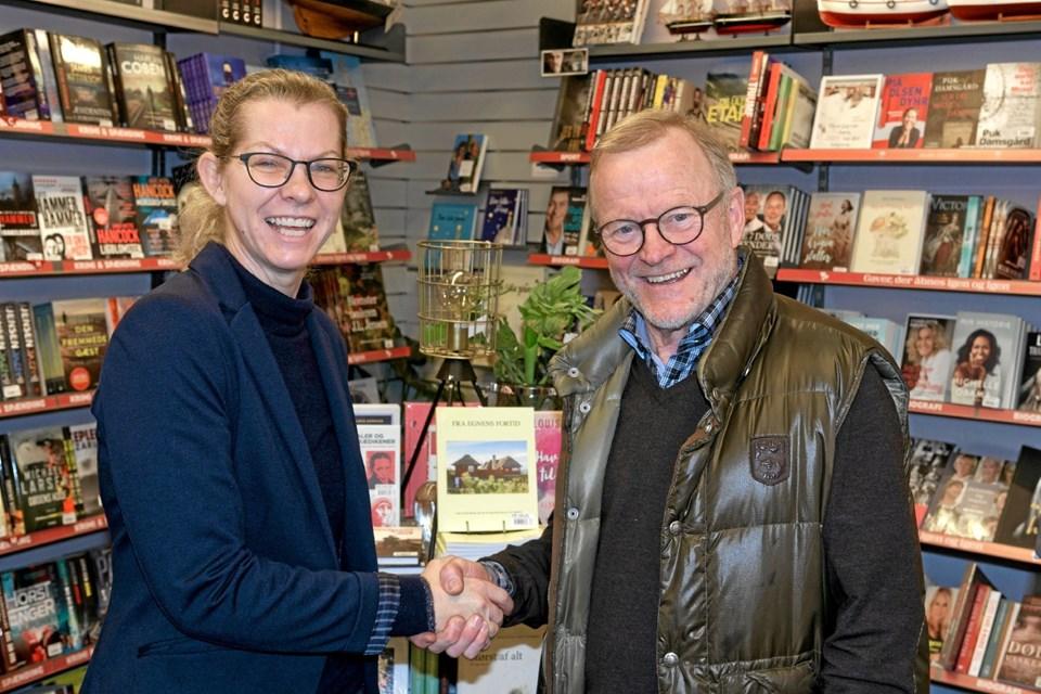Malene Ibsen Jakobsen er fra den 1. januar ny ejer af Bog og Idé, som hun overtager efter Kurt Jakobsen, der har haft boghandlen i mere end 33 år. Foto: Niels Helver Niels Helver