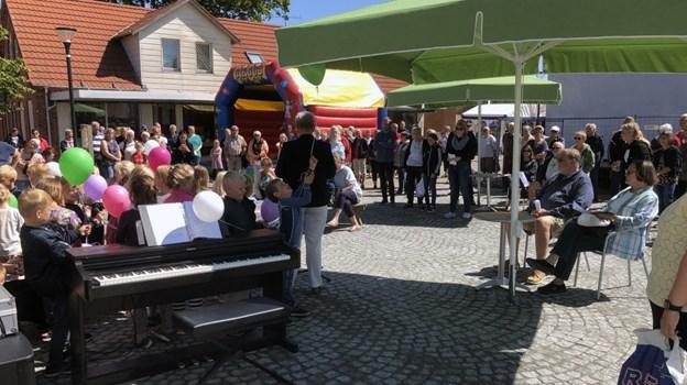 Borgmesterens åbningstale blev overværet af mange. Foto: Carsten Hougaard