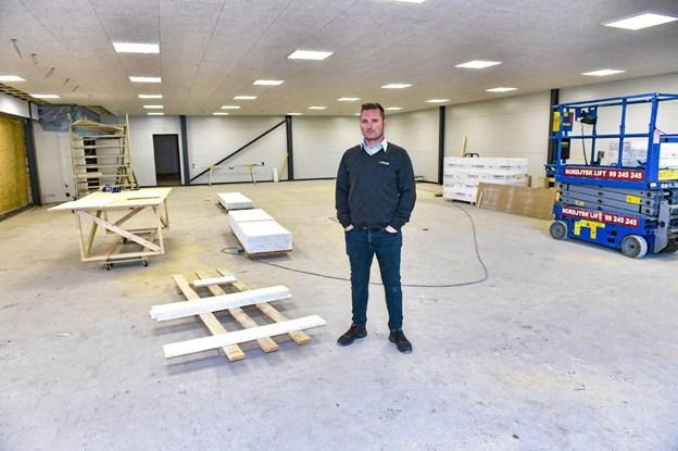 Det bliver virkelig en udvidelse der vil kunne mærkes hos Spar Klitmøller. Foto: Ole Iversen
