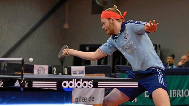 Martin Lund Nielsen fra B 75 spiller kvalifikation til DM i bordtennis på fredag.    Foto: B 75