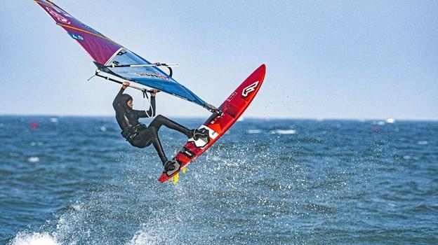 Der var perfekte forhold, da årets 1. afdeling af Danish Open Windsurf Wave/Freestyle blev afholdt i Klitmøller.Privatfoto
