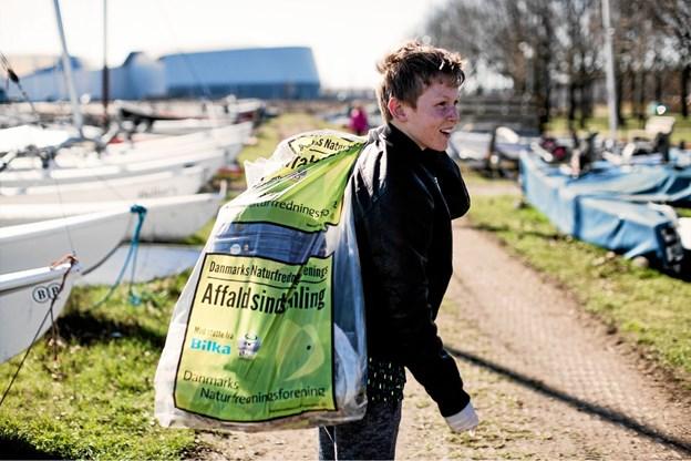 Otte steder i Thy blev der officielt indsamlet affald og det blev et flot resultat for Thy. Pressefoto: Danmarks Naturfredningsforening