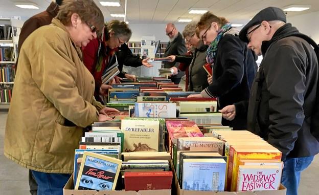 Bogsalget på bibliotekerne i Vesthimmerland plejer at være lidt af et tilløbsstykke for læseheste. Privatfoto