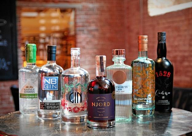 Der vil være over 100 forskellige gin, man kan smage på ginmarkedet. Privatfoto.