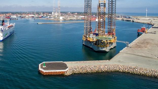 M.A.R.S. får til huse på den nye del af havnen i Frederikshavn. Det er tanken, at den amerikanske ophugningsgigant vil genindvinde 200.000 tons stål årligt.Arkivfoto: Peter Broen