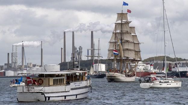 Eventchef Søren Thorst kalder fjorden og skibe i både Nørresundby og Aalborg for en fantastisk ramme omkring Tall Ships Races. Foto: Henrik Bo