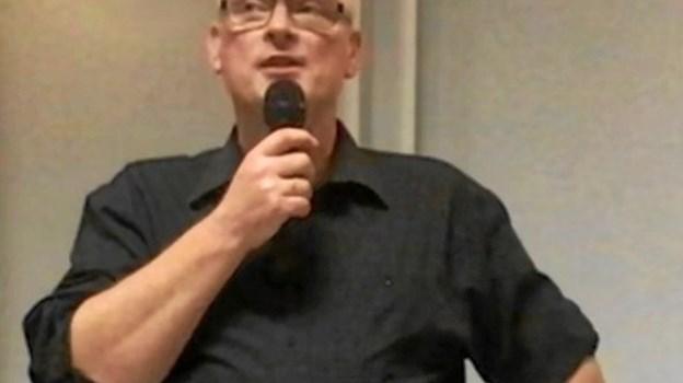 Henning Jochumsen, formand, havde mest godt at fortælle medlemmerne af Valsgaard Borgerforening. Privatfoto