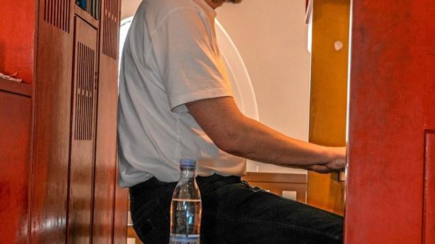 Organist Asbjørn Høgholm på plads ved orglet og koncerten kan begynde. Foto: Mogens Lynge Mogens Lynge