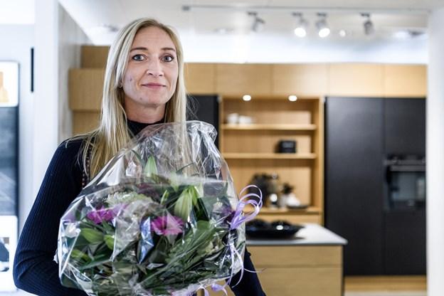 Anna Krogholm fra Hjørring vandt et JKE Køkken i Lykkehjulet, da det for en kort bemærkning vendte tilbage til TV2 i begyndelsen af oktober i anledning af tv-stationens 30 års fødselsdag.Foto: Nicolas Cho Meier