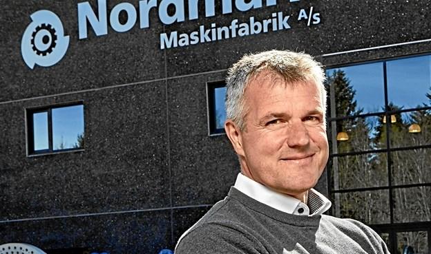 Placeringen her vil virkelig sætte Frederikshavn på verdenskortet som en nytænkende by med visioner for fremtiden og omtanke i forhold til de næste generationer, siger Morten Mørk fra Nordmark Maskinfabrik - til venstre i billedet,
