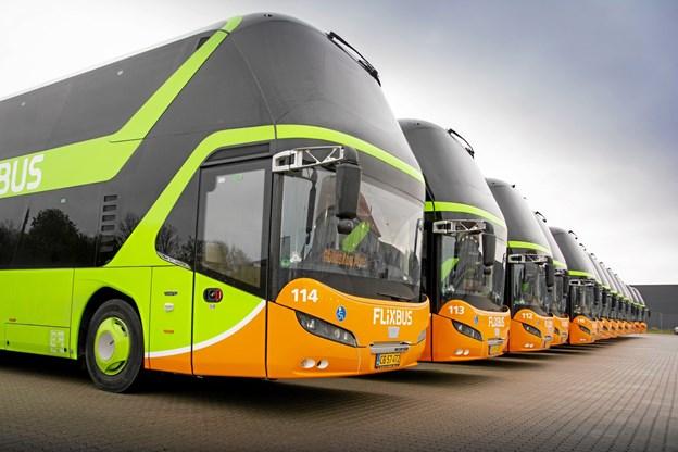Der bliver nu indsat nye busser på FlixBus' rute mellem Aalborg og København.PR-foto