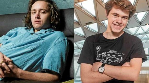 Her ses de to unge talenter fra Aalborg, der var med i fredagens X Factor program på TV 2. Foto: Lasse Sand