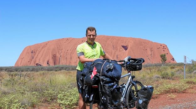 Frank Jensen så flere verdenskendte steder på sin vej. Privatfoto