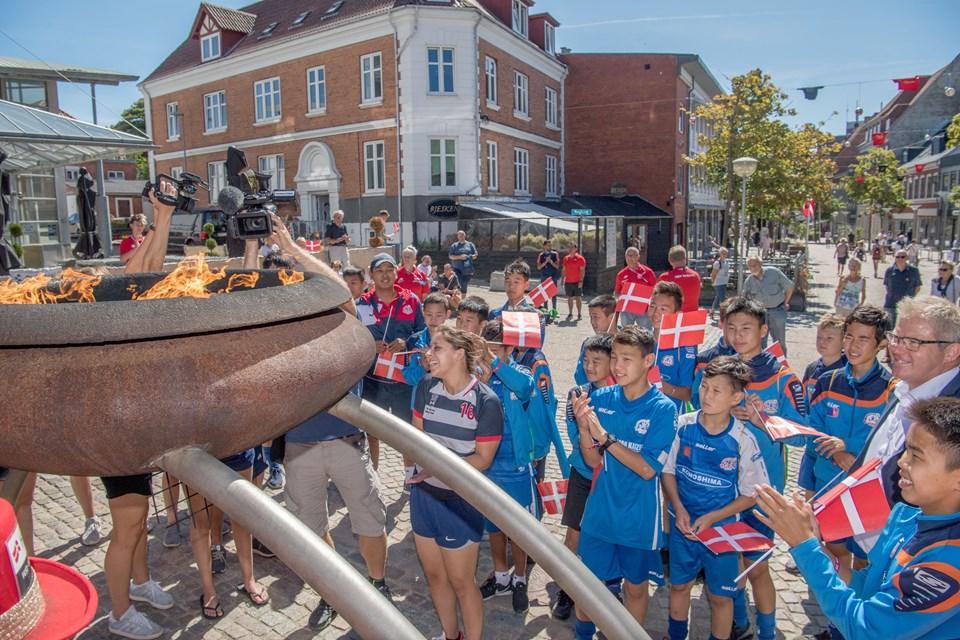 Åbningen af Dana Cup i Hjørring. Foto Henrik Louis