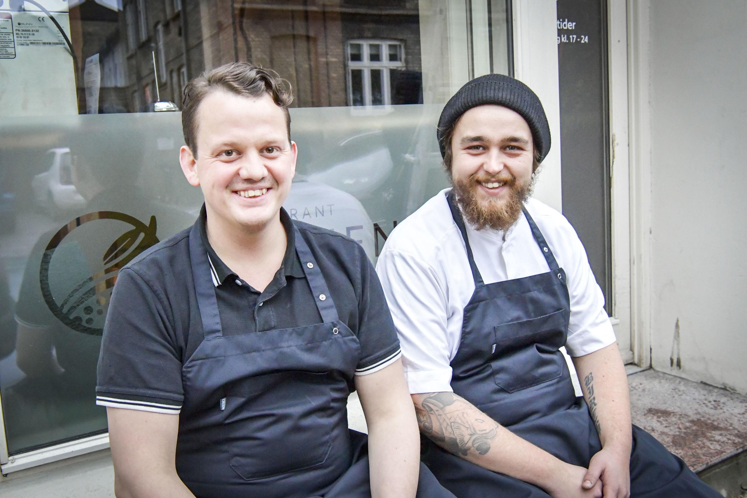 Her ses Simon Kvist Bjerre og Søren Birch, der i fællesskab åbner Aalborgs nye gourmetrestaurant, Alimentum. Foto: Kim Dahl