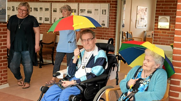Regner det indenfor hos Birkelse Plejecenter? Flemming Dahl Jensen