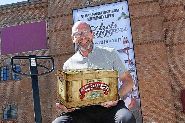 Årets brygmester-julekalender fra Thisted Bryghus slår ny rekord med 39.000 kalendere. Fotomontage: Ole Iversen
