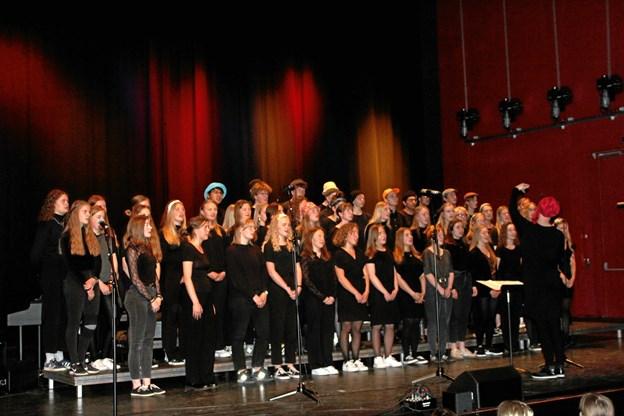 Det dygtige kor, dirigeret af Anne Verdelin. Privatfoto: Margit Hansen
