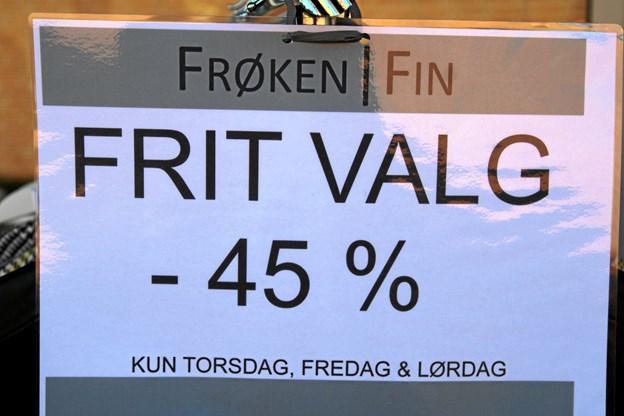 Kunderne sparede mange penge ved at besøge Aabybro centeret til deres fødselsdag. Foto: Flemming Dahl Jensen Flemming Dahl Jensen