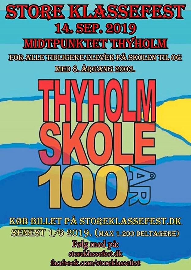 Festplakaten til Den Store Klassefest 14. september. Foto: Ole Iversen Ole Iversen