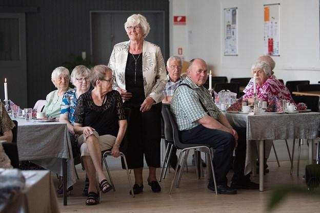 Linda Jensen fra seniorklubbens bestyrelse var også model til modeshowet. Foto: Hans Ravn